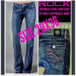 Rock & Republic Jeans Size 29 Kurt Boot Cut NWOT